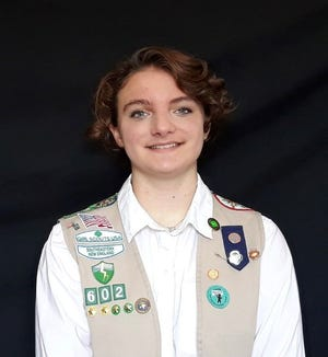 Jordan Brown, a freshman at Middletown High School, earned a Silver Award, one of the highest honors in Girl Scouts, for her two-prong bicycle safety program.