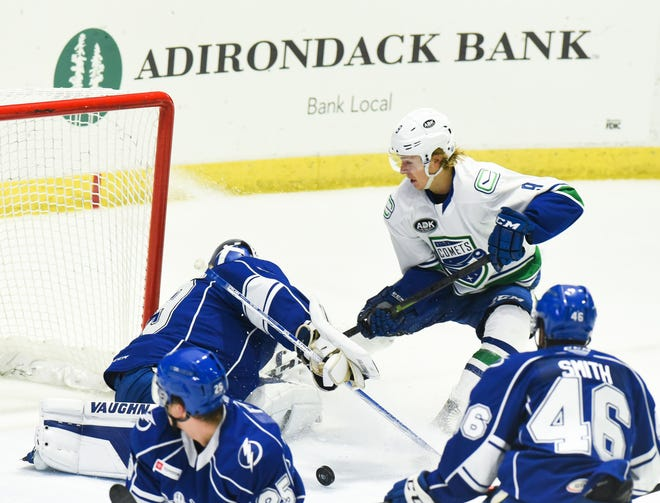 The Utica Comets and Syracuse Crunch are two of the four American Hockey League teams based in New York state. They will remain in the same North Division during an altered AHL season.