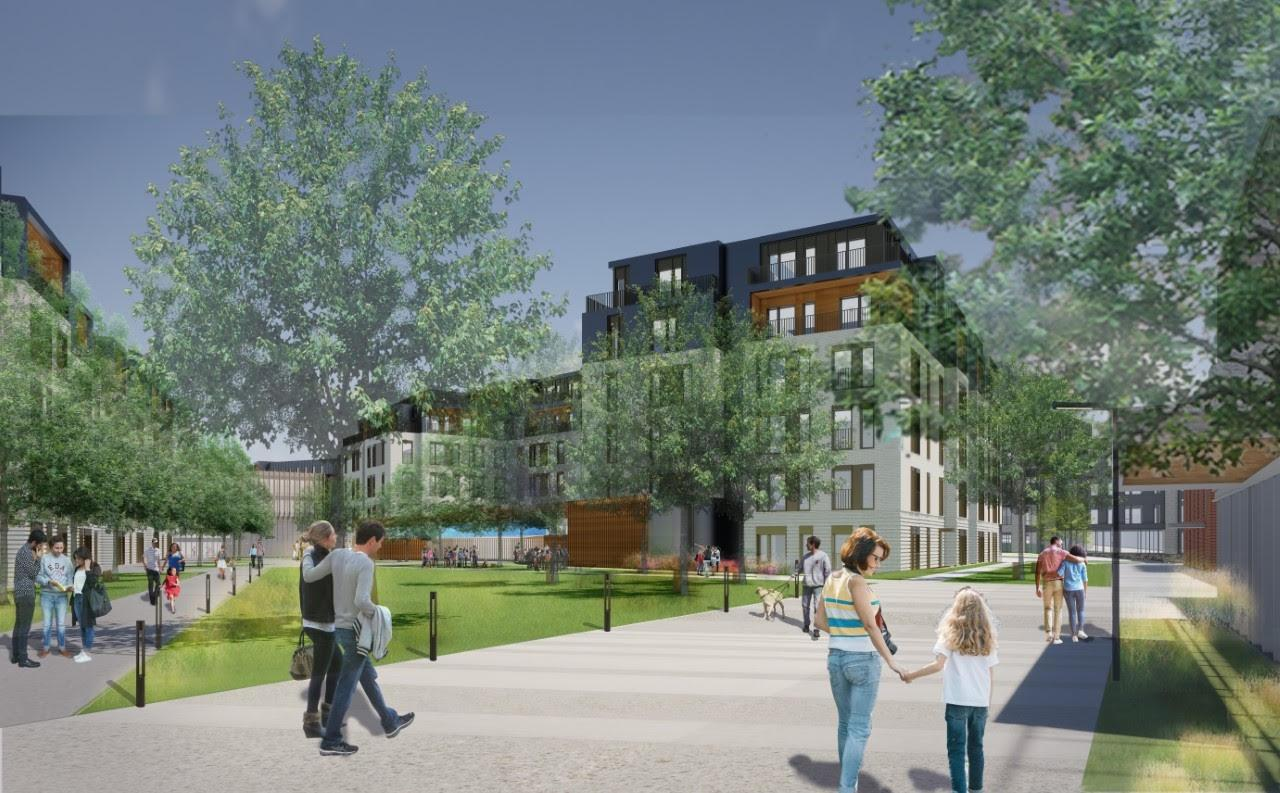 The former Quincy Medical Center campus on Whitwell Street has been partially demolished and will soon house Ashlar Park, a 460-unit residential development proposed by FoxRock Properties.