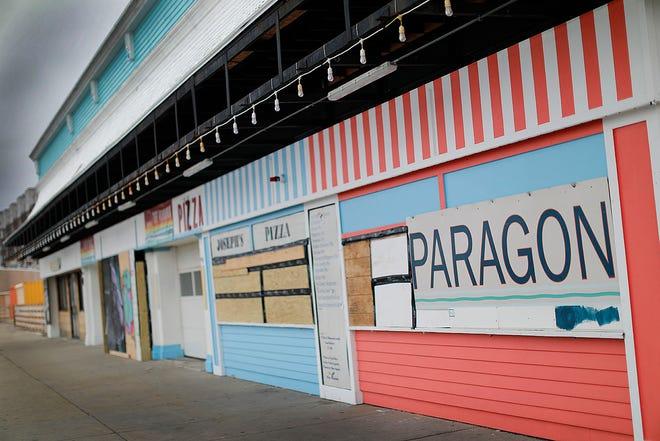The Paragon arcade on the Nantasket Boardwalk section of Nantasket Beach in Hull on Monday, Jan. 4, 2021. Greg Derr/The Patriot Ledger