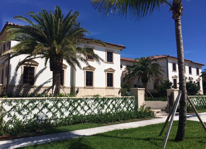 A Palm Beach condominium at 219 Brazilian Ave. in Palazzo Villas just sold for a recorded $11.995 million. When the developer sold it in January for $6.05 million, it was last of the four units in the townhouse-like project to change hands.