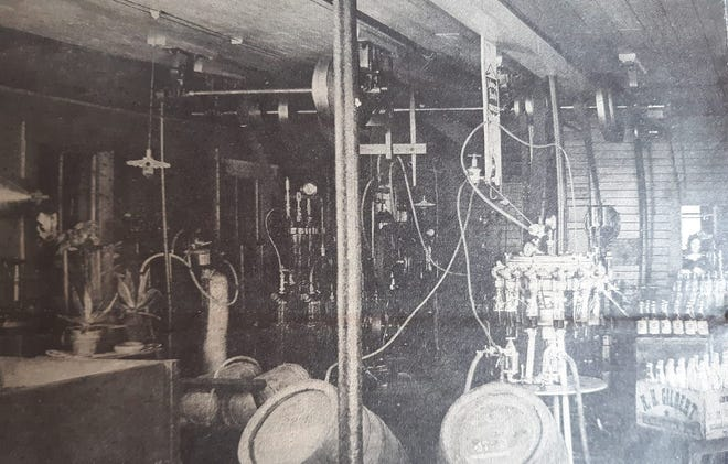 Inside the Gilbert and St. Hilaire Bottling Plant in Somersworth circa 1900. Photos courtesy of Summersworth Historical Museum