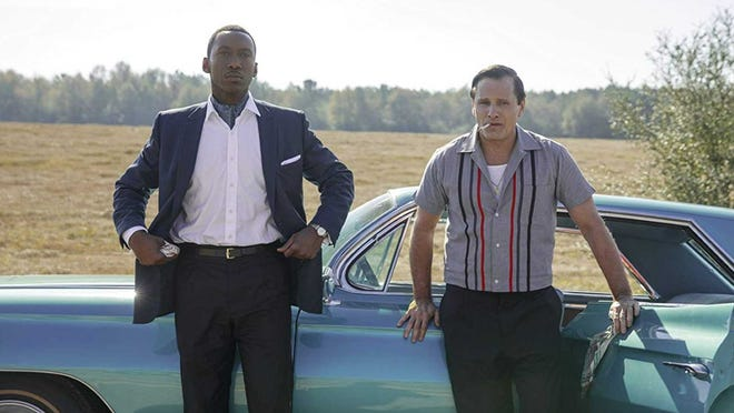 """PALACE MOVIE SATURDAY. As part of its Academy Awards tribute series, Canton's Palace Theatre will show """"Green Book,"""" the 2018 winner for best picture, at 7:30 p.m. Saturday. The film stars Viggo Mortensen as a tough-talking bouncer from the Bronx who is hired to drive an African-American concert pianist (played by Mahershala Ali) on his concert tour through the Deep South in 1962. Tickets, $10, maybe be ordered at 330-454-8172 from 11 a.m. to 3 p.m. weekdays. All seats are reserved. Masks are required."""