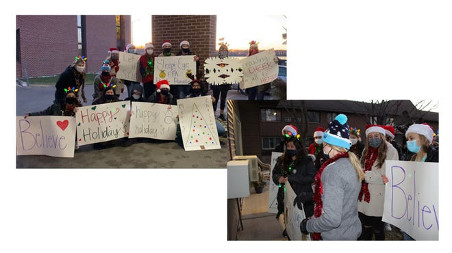 Sleepy Eye FFA members held a People Parade at Divine Providence and SE Care Center.