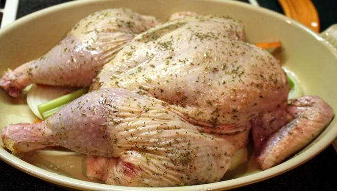 This spatchcocked chicken is ready to roast.