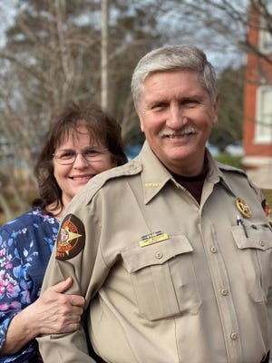 Sheriff Jimmy McDuffie with his wife Wanda, who is the EMS director for Effingham County.