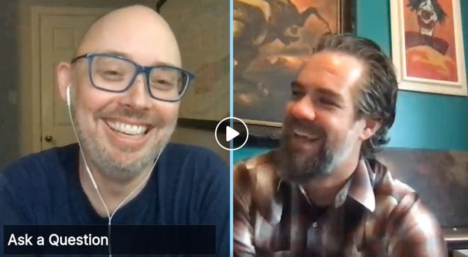 Neighborhood Comics' Lee Heidel in one of their previous livestream programs. In this one, he spoke with author and illustrator Brian Ralph.