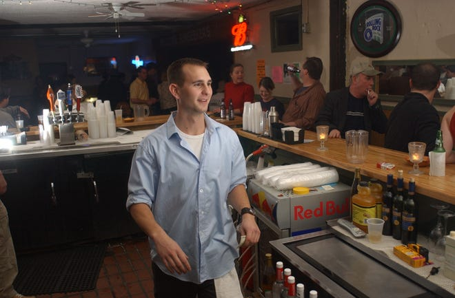 Bartender Chris Hale worked a 'Save The Ice House' party in 2004, the year the downtown bar was torn down.