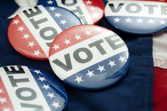 Vote election campaign button