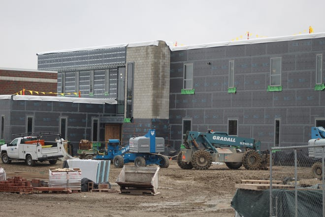 Work on the new Fremont Ross High School building is on schedule for completion in December 2021. Superintendent Jon Detwiler expects the building to be ready for classes when students return to school in January 2022.