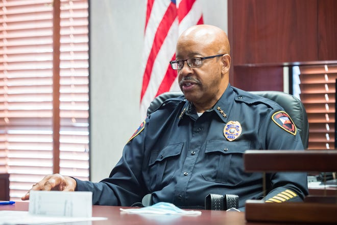 Thomas Glover Sr, Lafayette Police Chief. January 4, 2020.