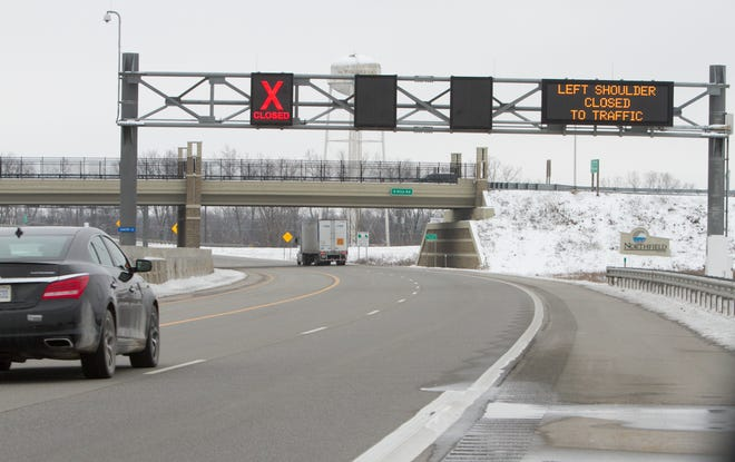 The Michigan Department of Transportation plans to extend flex lanes on U.S. 23, shown Monday, Jan. 4, 2021, north to Interstate 96 near Brighton. The existing flex lanes between Ann Arbor and Green Oak Township opened in 2017.