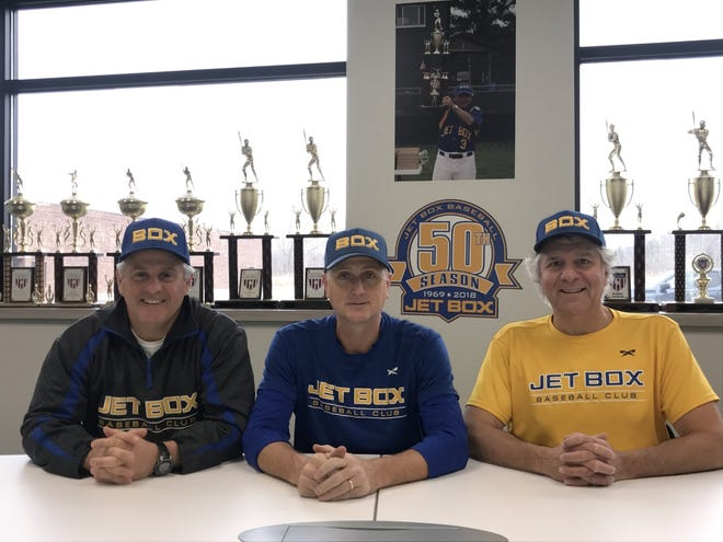 Jet Box Baseball Club President Tom Dimambro, head coach Steve Herbst and  general manager Tom Trammel will start a team in the Great Lakes Summer Collegiate League in 2021.