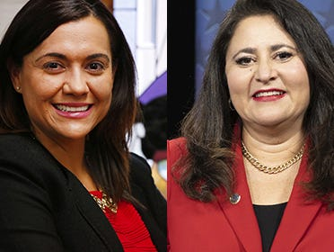Ana Tovar (left) and Lea Marquez Peterson are Arizona Corporation Commissioners.