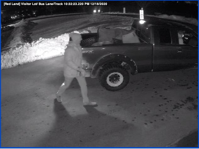 Fairview Twp. Police are asking for the public's help to identify vandals who caused several thousand dollars in damage to Red Land High School's athletic fields by turfing them the night of Friday, Dec. 18, 2020.
