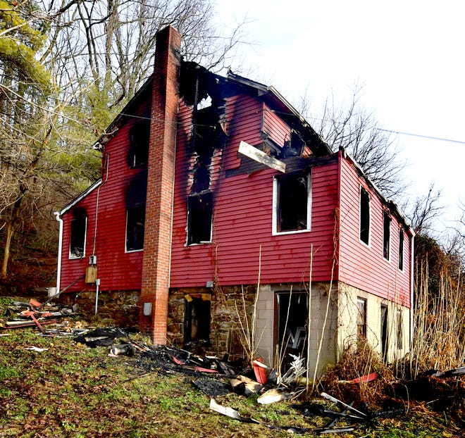A Sunday fire claimed a life in the 6700 block of Lineboro Road in Manheim Township Monday, Jan. 4, 2021. A 67-year-old man died in the fire, according to the York County Coroner's Office. Bill Kalina photo