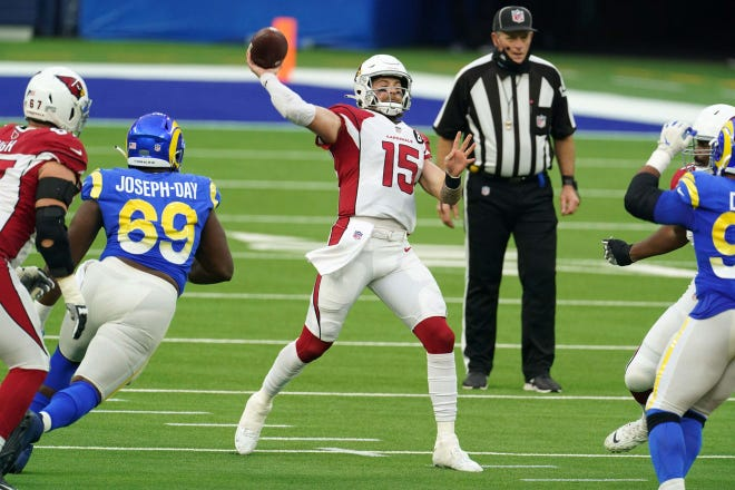 Chris Streveler saw his first significant action as an NFL quarterback Sunday in Arizona's loss to the Rams