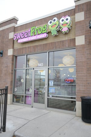 sweetFrog, a frozen yogurt shop, is located at 140 Crossroads Drive in Plover.
