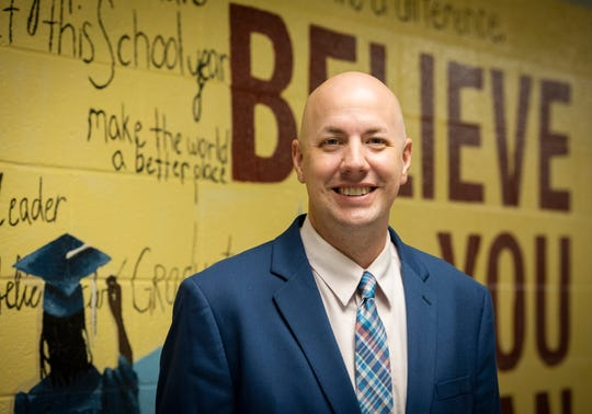 Jeffrey Simpson principal of Pendleton Elementary