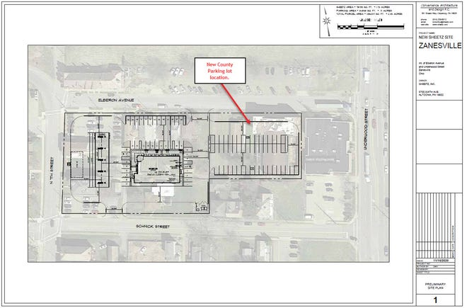 A proposed Sheetz gas station on Elberon Avenue would move parking lots a half-block east. The desirable location off of the I-70 Seventh Street ramp could create a lot of traffic and pedestrian safety issues, county officials say.