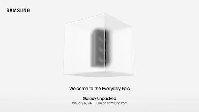 An image of Samsung's invite for its Galaxy Unpacked event happening Jan. 14.