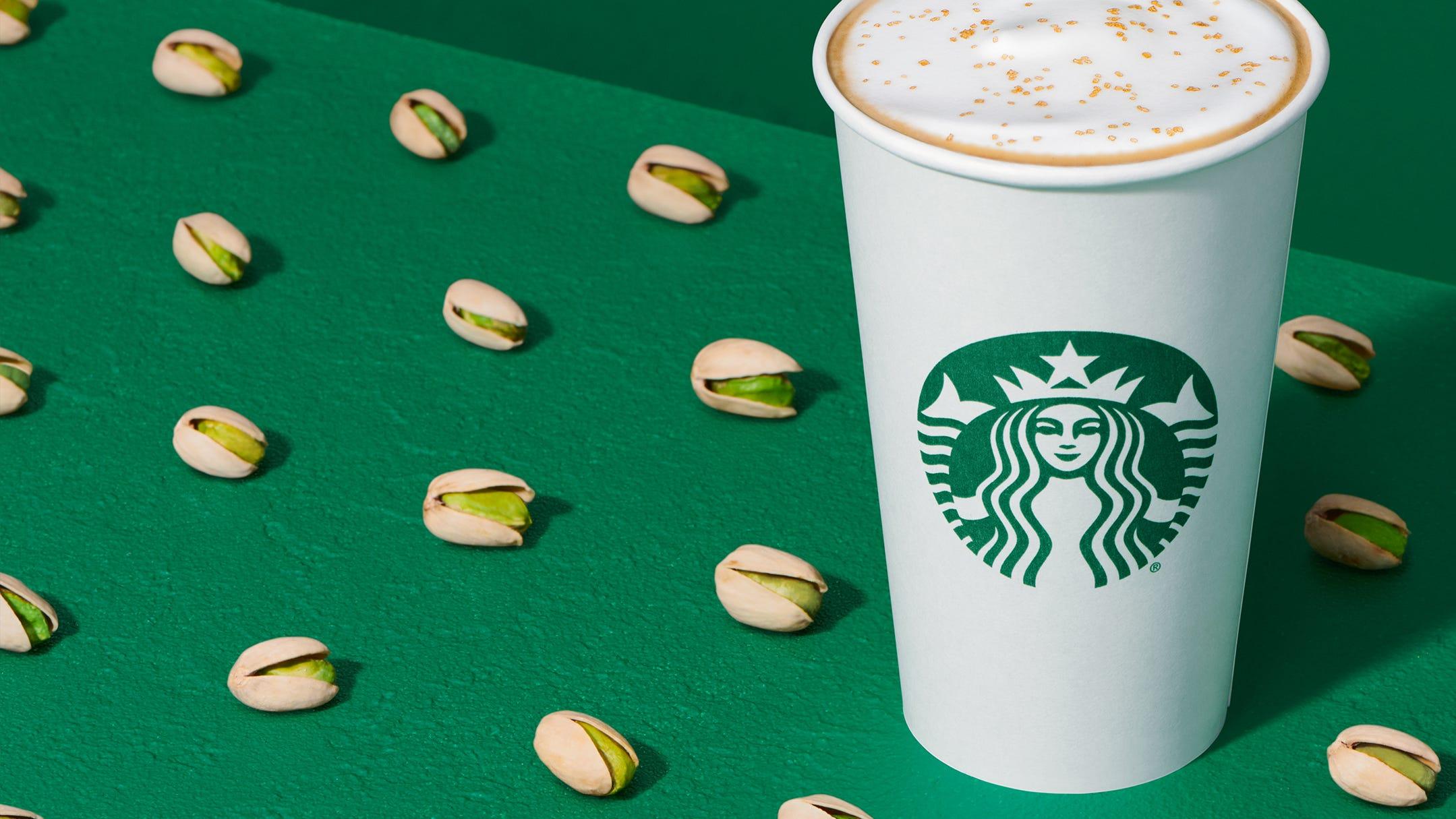 Starbucks Pistachio Latte Honey Almondmilk Cold Brew Debut Tuesday