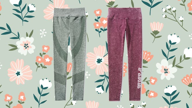 Tons of workout and lounge-ready leggings are discounted over at VS Pink.