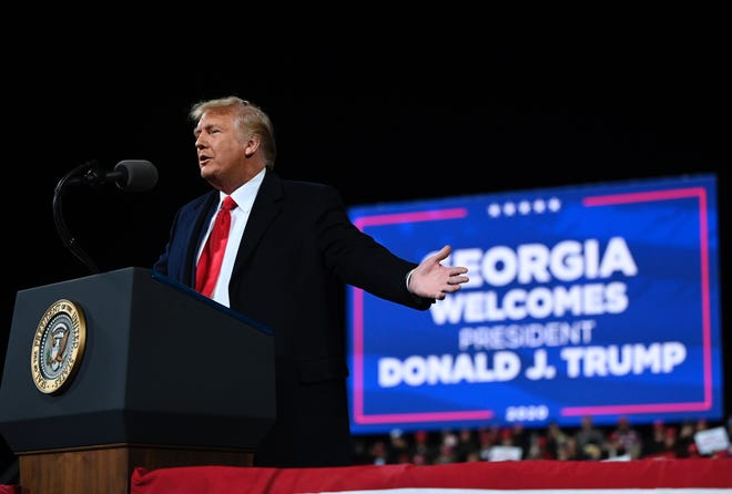 Donald Trump on Dec. 5, 2020, in Valdosta, Georgia.