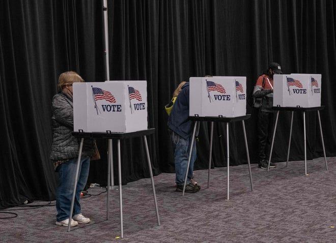 Voting on Nov. 3, 2020, in Lansing, Michigan.