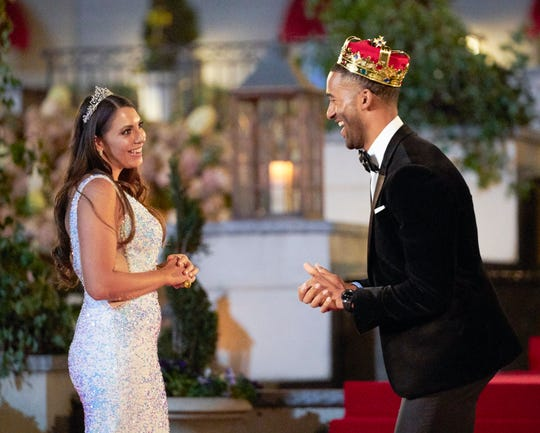 """""""Bachelor"""" Matt James and Victoria, a self-described queen, on the new season of ABC's reality franchise."""