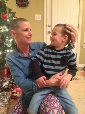 """Linda Money with one of her grandsons. She is Mimi to her four grandsons, who she refers to as """"my heart."""""""