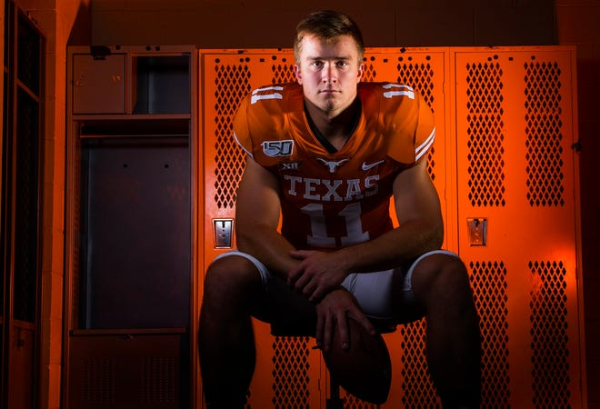 Texas quarterback Sam Ehlinger, shown posing for a preseason portrait ahead of the 2019 season, will not return for a fifth season and instead will pursue the NFL draft.