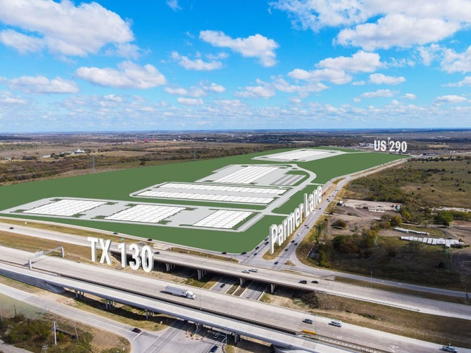 The Crossroads Logistics Center is Austin's largest planned industrial development, according to the project's developer, HPI Real Estate Services and Investments. It is slated to have 1.6 million square feet of space when built in four phases.