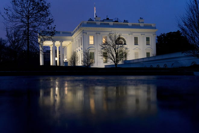 The White House, Friday, Jan. 1, 2021, in Washington. (AP Photo/Andrew Harnik)