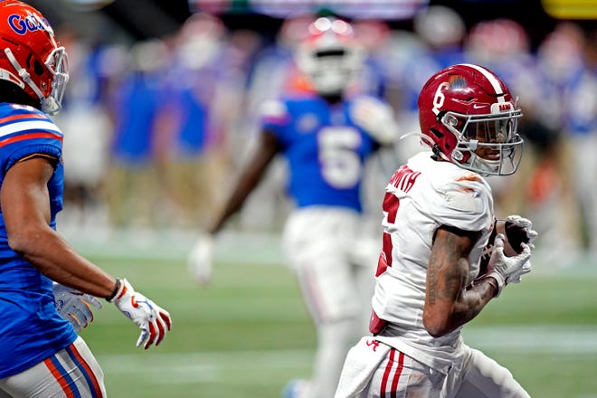 Alabama wide receiver had one of the all-time great college football receiving seasons and was the top choice for all three of the American-Statesman's Heisman Trophy voters' ballots.