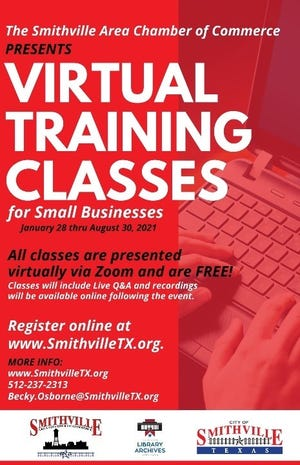 The Smithville Area Chamber of Commerce will offer virtual training classes this year targeted at local small businesses. [CONTRIBUTED BY APRIL DANIELS]