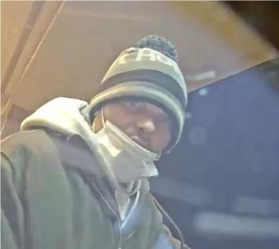 Police say this man stole a skid-steer loader and use it to damage an ATM at an Akron bank.