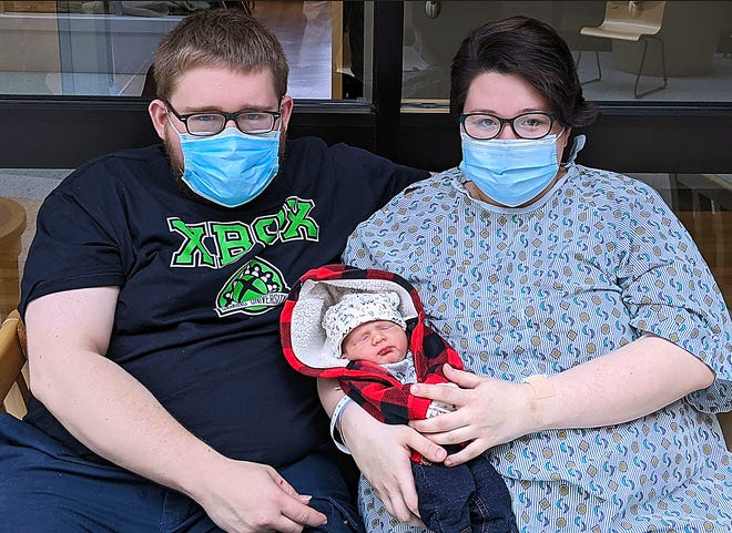 James Green and Savannah Stinehour with their son Jack Andreas Green