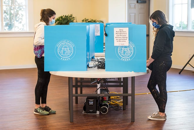 Some Columbia County voters experienced trouble with voting machines Tuesday morning and had to vote via paper ballot.