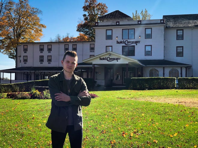 "Pittsburgh ghost hunter Brett McGinnis investigates reports that The Hotel Conneaut is haunted in the season premiere of Travel Channel's ""Ghost Nation."""
