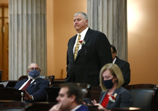 Rep. Larry Householder, the former Ohio House Speaker currently under federal indictment on bribery and racketeering charges, has introduced legislation aimed to hold local officials for health orders and enable lawmakers to vote down the governor's executive orders.