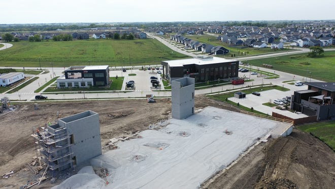 An aerial view of the Kettleview Development in Kettlestone.