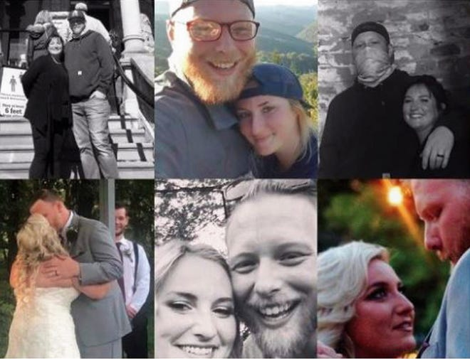 Photos of Brittany and Jimmy Knippenberg as posted by family and friends on a GoFundMe page.
