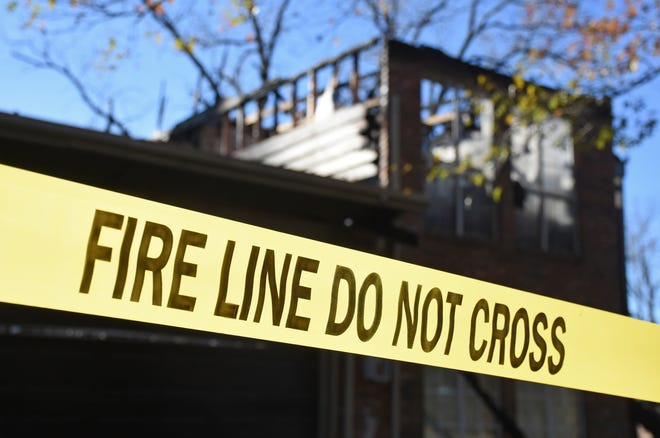 Several fire crews responded to a fire in Bells Monday.