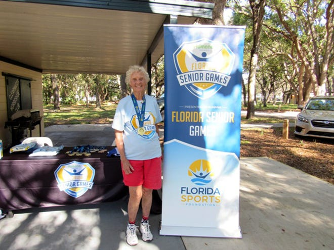 Claudette Braswell  of the Winter Haven Horseshoe Club was Florida state champion in the women's 80-84 age groups respectively at the Florida Senior Games at Clearwater in December. It was her third consecutive title.