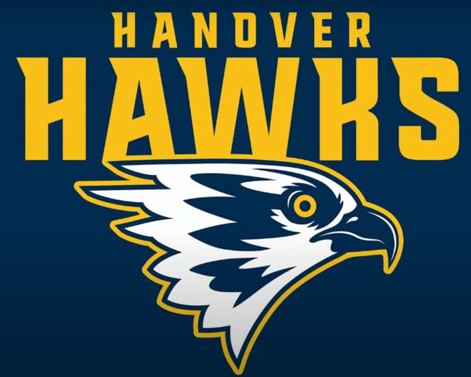 Hanover chose its new mascot, the Hawks, seen in this prototype logo.