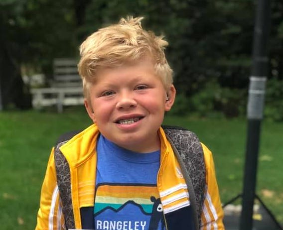 Aidan Carter's special stuffed animal, Cookie Monster, was stolen along with his backpack while he was in California to take part in a clinical trial for a rare disease.