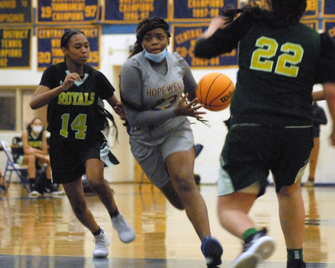 Hopewell faced Prince George in girl's basketball on Monday, January 4, 2021, in the first high school sporting event to take place in the Tri-Cities since the beginning of the COVID-19 pandemic.
