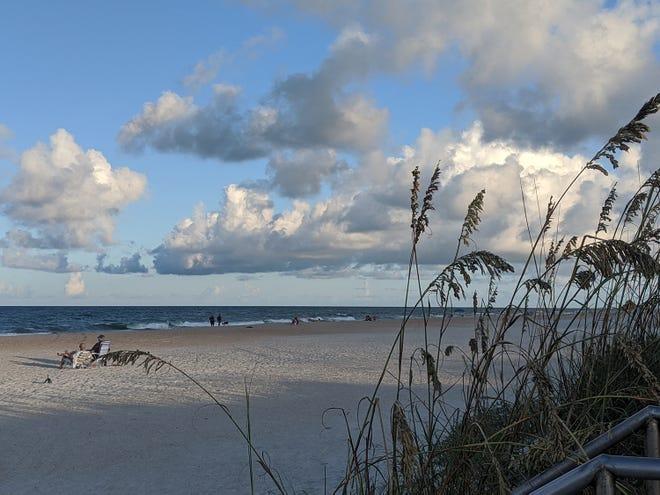 An evening at St. Augustine Beach.
