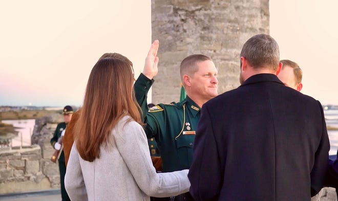 St. Johns County Sheriff Robert Hardwick is sworn into office Tuesday.